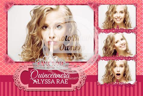 Elegant Princess Postcard Quinceanera Photo Booth Template