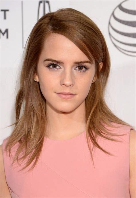 emma bushy hairstyle emma watson latest cute layered mid length straight