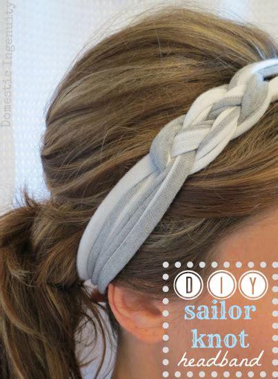 How To Make Handmade Headbands - diy sailor knot headband