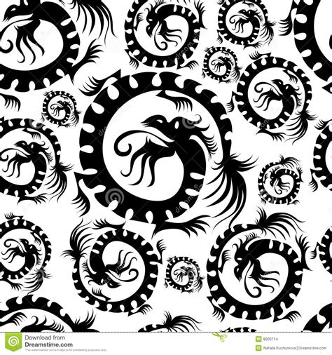 seamless dragon pattern stock vector illustration of