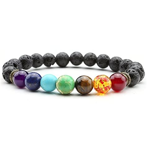 healing gemstone bead bracelet top plaza 8mm lava rock chakra bracelet