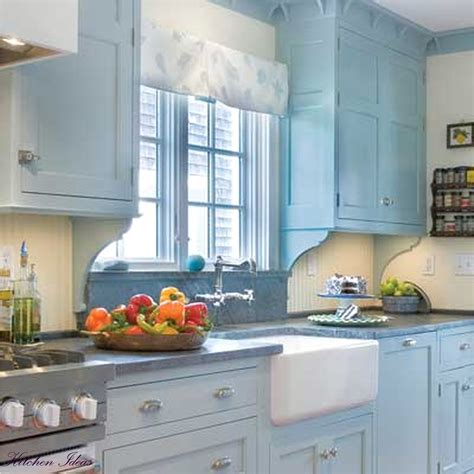 painting small kitchen painting ideas for kitchen walls kitchen odern u shaped design with blue cabinets excerpt