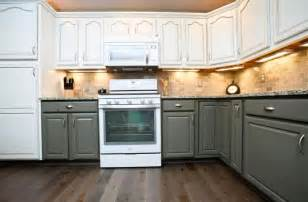 Painted Kitchen Cabinets Two Colors » Ideas Home Design