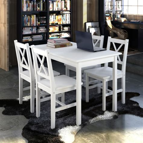 White Wooden Kitchen Chairs by New Quality Wooden Dining Table And 4 Chairs Set Kitchen