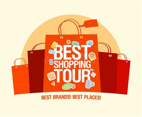 tour design template best shopping tour design template royalty free stock