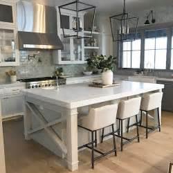 Farmhouse kitchen island with x side and shiplap farmhouse kitchen