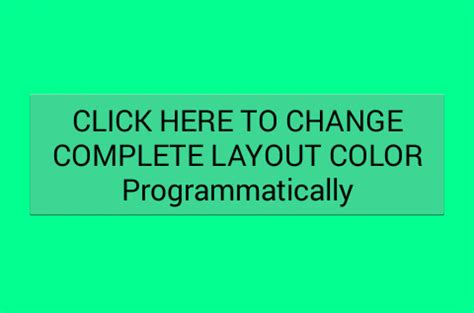 set top layout guide programmatically set layout background color programmatically android