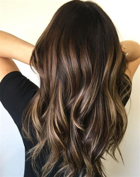 balayage dark brown hair with blonde highlights 45 sunny and sophisticated brown with blonde highlight looks