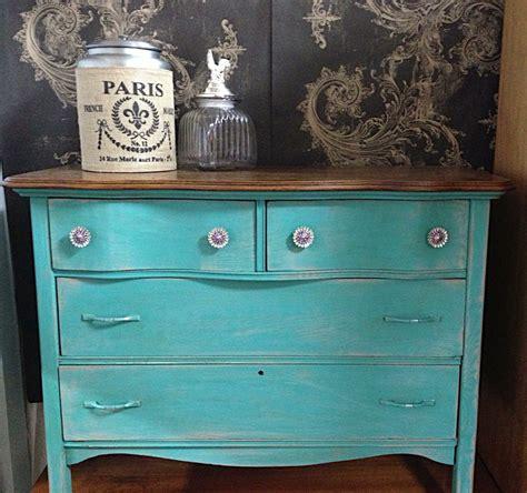 chalk paint furniture turquoise blue vintage antique dresser