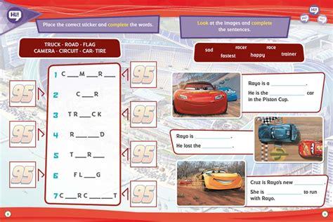 libro cars libro educativo cars 3 libro educativo disney con actividades y pegatinas megustaleer