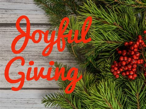 Joyful Giving joyful giving bean s corner baptist church