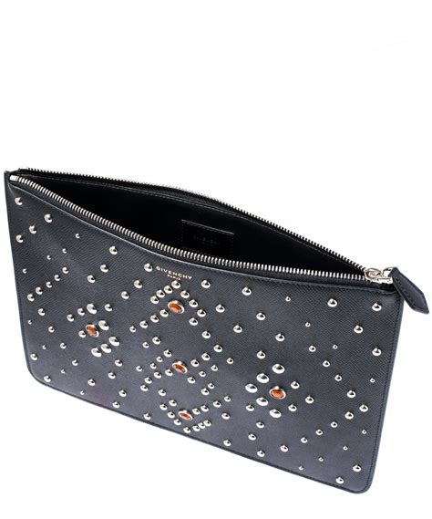 Pouch Givenchy Ori Leather lyst givenchy black studded leather pouch in black for