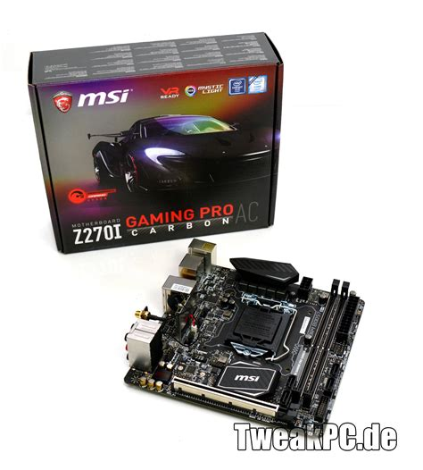 Msi Z270 I Gaming Pro Carbon Ac msi z270i gaming pro carbon ac miniitx mainboard im test