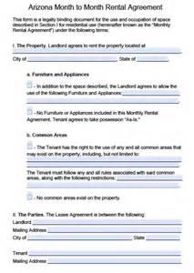 free arizona month to month rental agreement pdf word