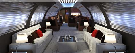 Jet Interior Layout by Andrew Trujillo Design Yacht Aircraft Home Design
