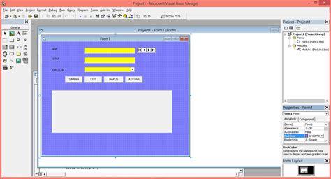 modul desain database cara membuat data mahasiswa dengan vb 6 0 mengconeksikan