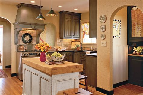 Cozy Cottage Decor by A Cozy Cottage Style Kitchen Yellow Decorating Ideas