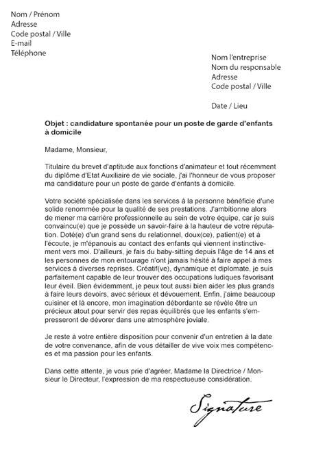 Lettre De Recommandation Assistant Maternelle Lettre De Motivation Garde D Enfants 224 Domicile Mod 232 Le De Lettre