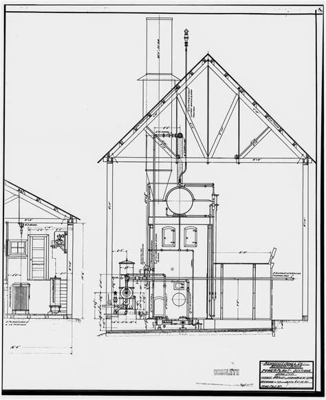 state of alaska corporations section file 35 photocopy of drawing of power plant section oct
