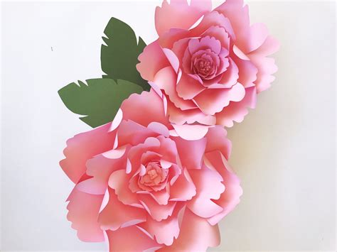 rose paper flower pattern paper flower template diy paper flower pattern paper