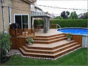 backyard deck and patio ideas 1000 ideas about above ground pool decks on