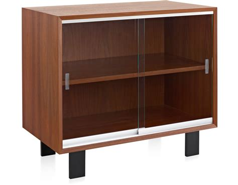 cabinet with doors nelson basic cabinet with glass sliding doors hivemodern com