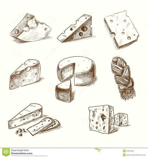 doodle sketch doodle sketch cheese with different stock