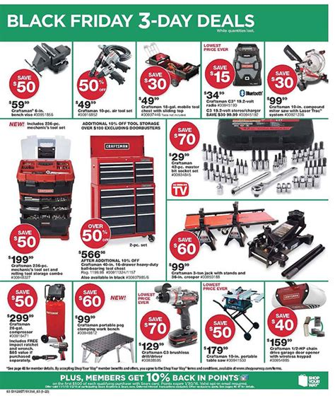 bench black friday sears black friday 2015 tool deals