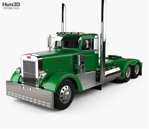 truck models peterbilt 351 tractor truck 1954 3d model hum3d