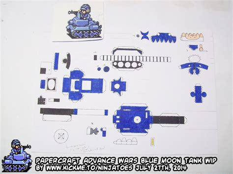Advance Wars Papercraft - papercraft advance wars blue moon tank wip3 by
