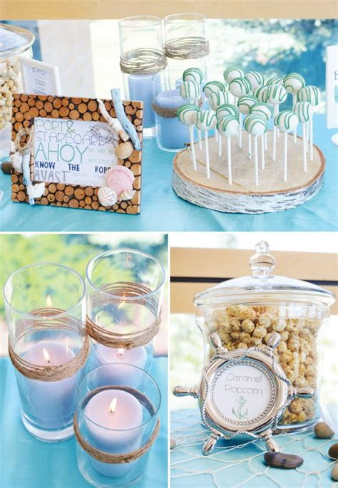 Sailor Themed Baby Shower Centerpieces by 10 Ideas For A Nautical Themed Baby Shower Ramshackle Glam
