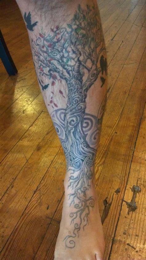 leg tree tattoos foot leg tree tree tattoos