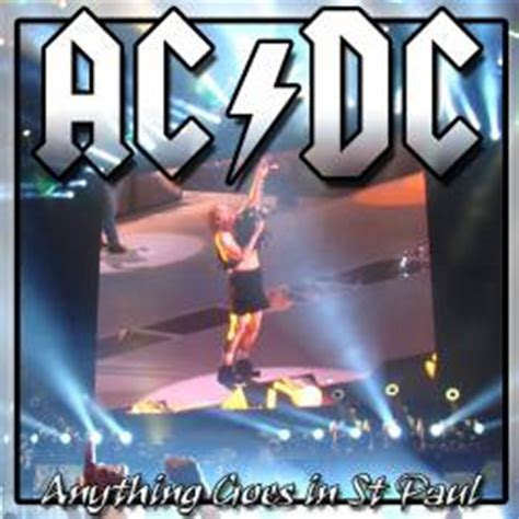 Kaos Band Acdc Anything Goes ac dc anything goes in st paul bootleg spirit of metal webzine en