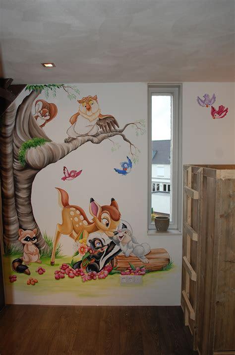 disney babyzimmer stertje bloem muurschildering disney baby