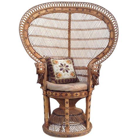 Free shipping worldwide chair 70 s emmanuelle silvia k wicker peacock at 1stdibs
