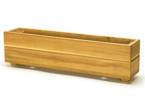 Teak Planter Boxes by Teak Herb Planter Box 4 H X 4 W X 19 L Teak Planter