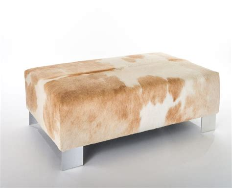 cow skin ottoman 21 best cowhide ottomans images on cowhide