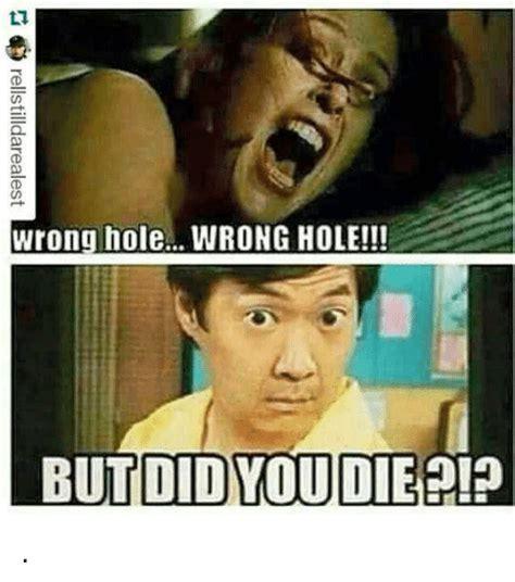 Wrong Hole Turtle Meme - wrong hole wrong hole ii but did you die meme on me me
