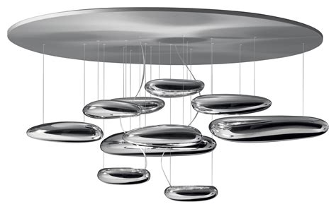 plafonnier mercury led 216 110 cm chrom 233 led artemide