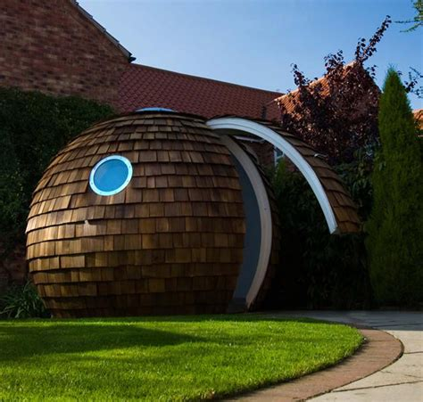 Backyard Pod by Archipod Eco Friendly Garden Office Pod Hiconsumption
