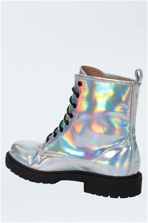 Moon Boot Duvet Silver Metallic Mirror Lace Up Boots Official Tallyweijl