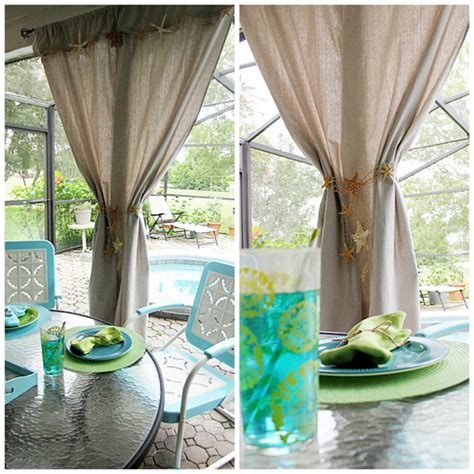 Patio Curtains Diy by Diy Inspired Patio Curtains From A Canvas Drop Cloth