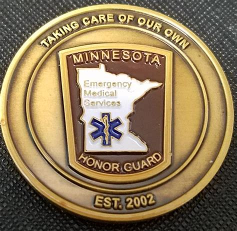 ems challenge coin minnesota ems honor guard challenge coin