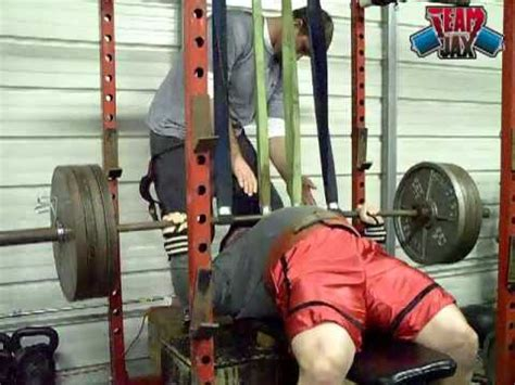 bench press assistance band assisted bench press youtube