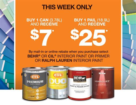 the home depot canada paint coupons receive up to 25