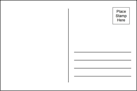 free blank postcard template for word 10 best images of printable postcard templates free