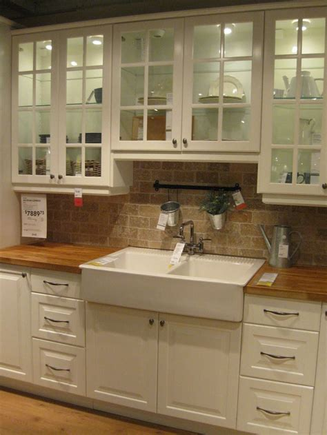 this drop in apron front sink and butcher block