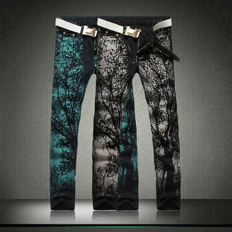 hot pattern jeans 2015 brand new mens printed fashion design jeans hot style