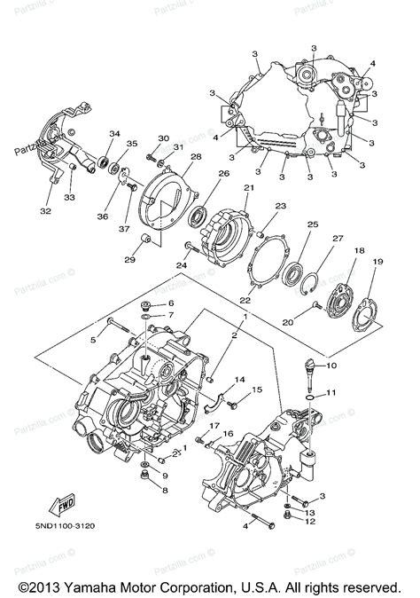 yamaha kodiak 450 parts diagram yamaha atv parts 2006 kodiak 450 4wd yfm45fav crankcase