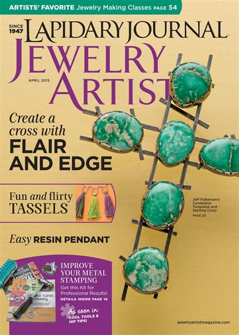 jewelry journal lapidary journal jewelry artist april 2015 digital
